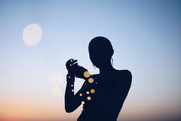 silhouette photo of woman